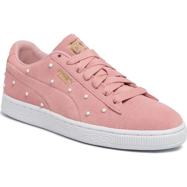 Sneakersy PUMA Suede Pearl Studs Wn's 369934 02 Bridal Rose Puma Team Gold