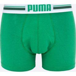 Puma - Bokserki Puma Placed logo boxer 2p green (2-pack). Zielone bokserki męskie Puma, z bawełny. W wyprzedaży za 49.90 zł.