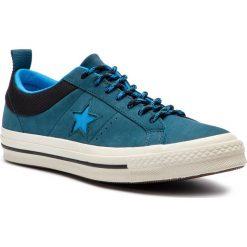Tenisówki CONVERSE - One Star Ox 162543C Blue Fir/Blue Hero/Black. Niebieskie trampki męskie Converse, z gumy. W wyprzedaży za 259.00 zł.