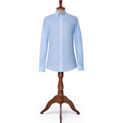 Koszula Niebieska w Prążek Highway. Niebieskie koszule męskie LANCERTO, w prążki, z bawełny, button down. Za 299.00 zł.