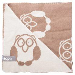 Zopa Kocyk Dziecięcy Little Owl, Savana. Szare kocyki dla dzieci Zopa, z bawełny. Za 119.00 zł.