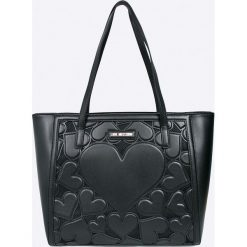 Love Moschino - Torebka. Szare torby na ramię damskie Love Moschino. Za 949.90 zł.