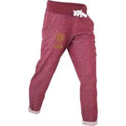 Spodnie sportowe, długość 7/8 bonprix czerwony rododendron melanż. Spodnie sportowe damskie bonprix, z aplikacjami, ze skóry. Za 79.99 zł.