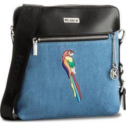 Torebka KAZAR - Lora 25777-TK-10 Niebieski. Niebieskie listonoszki damskie Kazar, w kolorowe wzory, z jeansu. W wyprzedaży za 279.00 zł.