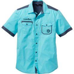 Koszula z krótkim rękawem bonprix morski. Koszule męskie marki Giacomo Conti. Za 37.99 zł.