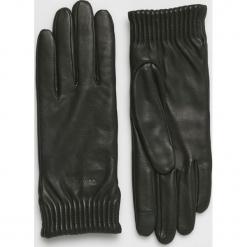 Calvin Klein - Rękawiczki skórzane. Czerwone rękawiczki damskie Calvin Klein, z elastanu. Za 349.90 zł.