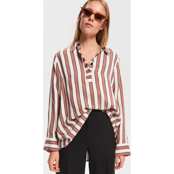 d7da6b73 Długa bluzka z wiskozy - Bordowy