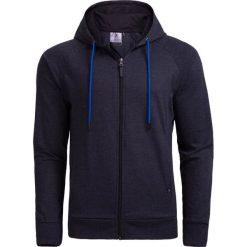 Bluza męska BLM601 - ciemny szary melanż - Outhorn. Szare bluzy męskie Outhorn, na lato, melanż, z materiału. W wyprzedaży za 49.99 zł.