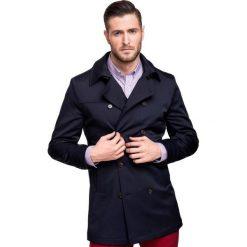 Płaszcz CARLOS PSGS000044. Brązowe płaszcze męskie Giacomo Conti, w paski, z tkaniny, eleganckie. Za 899.00 zł.