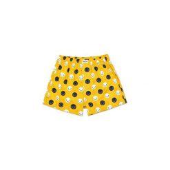 Bielizna męska Happy Socks SMI66-2000. Żółta bokserki męskie Happy Socks, w kolorowe wzory, z bawełny. Za 55.99 zł.