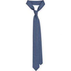 Krawat Mixkolor. Szare krawaty i muchy LANCERTO, w geometryczne wzory, z mikrofibry, eleganckie. Za 79.90 zł.