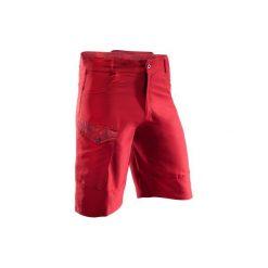 Szorty na rower MTB 500 męskie. Czerwone krótkie spodenki sportowe męskie B'TWIN. W wyprzedaży za 39.99 zł.