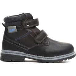 Czarne Traperki Oppidan. Czarne buty zimowe chłopięce Born2be, z materiału. Za 79.99 zł.