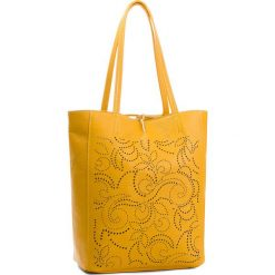 Torebka CREOLE - K10553  Żółty. Żółte torebki do ręki damskie Creole, ze skóry. Za 279.00 zł.