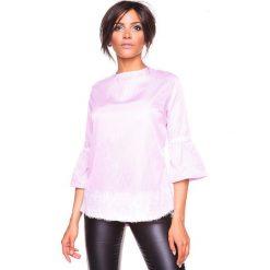 """Koszulka """"Kelly"""" w kolorze jasnoróżowym. Bluzki damskie La Belle Française, w paski, z okrągłym kołnierzem. W wyprzedaży za 152.95 zł."""