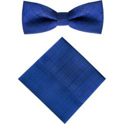 Mucha z poszetką MUN0001259. Niebieskie krawaty i muchy Giacomo Conti, z mikrofibry. Za 69.00 zł.