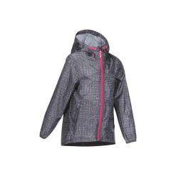 Kurtka turystyczna Hike 100 dla dziewczynek. Szare kurtki i płaszcze dla dziewczynek QUECHUA, z materiału. Za 39.99 zł.