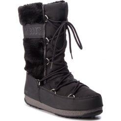 Śniegowce MOON BOOT - Monaco Hi Fur 24008400001  Black. Czarne kozaki damskie Moon Boot, z materiału. Za 849.00 zł.