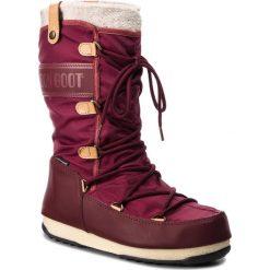 Śniegowce MOON BOOT - Monaco Felt 24003200008 Port Royale. Czerwone kozaki damskie Moon Boot, z materiału. Za 649.00 zł.