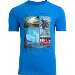 T-shirt męski TSM606 - niebieski - Outhorn. Niebieskie t-shirty męskie Outhorn, na lato, z bawełny. Za 39.99 zł.