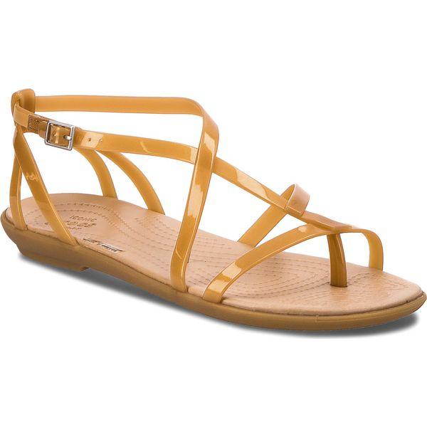 Sandały CROCS Isabella Gladiator Sandal W 204914 Dark GoldGold