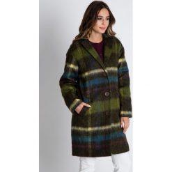 Wełniany płaszcz w kolorze oliwkowym BIALCON. Zielone płaszcze damskie BIALCON, na jesień, z wełny. W wyprzedaży za 510.00 zł.