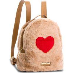 Plecak LOVE MOSCHINO - JC4327PP06KW120A  Poliest Cammello. Brązowe plecaki damskie Love Moschino, z materiału, eleganckie. Za 799.00 zł.