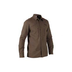 Koszula myśliwska Renfort 500. Brązowe koszule męskie SOLOGNAC, z długim rękawem. Za 99.99 zł.