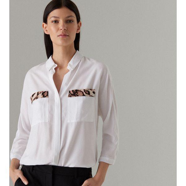 323a49b852826e Gładka koszula oversize - Biały - Koszule damskie marki Mohito. Za ...
