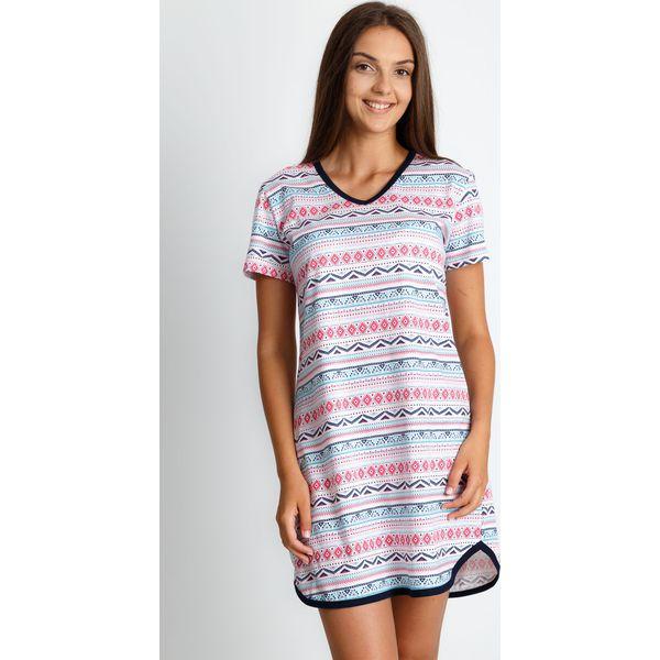 02c7549e506c56 Piżama koszula nocna z azteckim wzorem QUIOSQUE - Koszule nocne ...