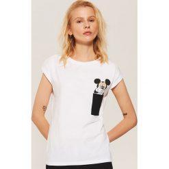 Koszulka piżamowa Mickey Mouse - Biały. Białe koszule nocne damskie House, z motywem z bajki. Za 35.99 zł.