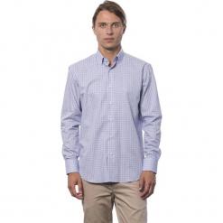Koszula w kolorze błękitno-fioletowym. Niebieskie koszule męskie Roberto Cavalli, Trussardi, w kratkę, button down. W wyprzedaży za 219.95 zł.