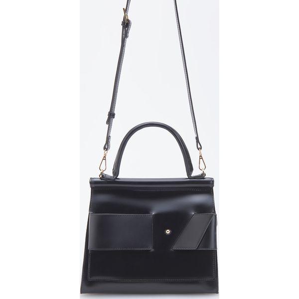 e6cc9632c567a Torebka kuferek z odpinanym paskiem - Czarny - Czarne torebki do ...