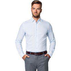 Koszula Błękitna w Kratę Kern. Niebieskie koszule męskie LANCERTO, na jesień, z haftami, z bawełny. Za 299.90 zł.