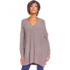 """Sweter """"Lolita"""" w kolorze szarobrązowym. Brązowe swetry damskie So Cachemire, z kaszmiru. W wyprzedaży za 186.95 zł."""