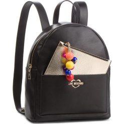 Plecak LOVE MOSCHINO - JC4107PP17LM0000 Nero. Czarne plecaki damskie Love Moschino, ze skóry ekologicznej, eleganckie. Za 959.00 zł.