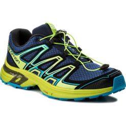 Buty SALOMON - Wings Flyte 2 399670 27 W0 Blue Depths/Lime Green/Hawaiian Surf. Niebieskie buty sportowe męskie Salomon, z materiału. W wyprzedaży za 299.00 zł.