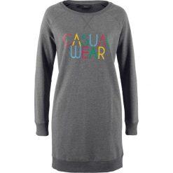 Bluza dresowa z nadrukiem bonprix szary melanż z nadrukiem. Bluzy damskie marki KALENJI. Za 37.99 zł.