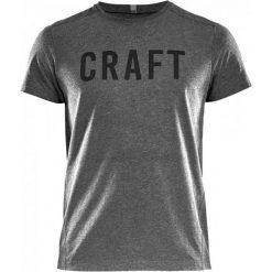 Craft T-Shirt Męski Deft Ss, Szary Xxl. Szare t-shirty męskie Craft, z nadrukiem, z bawełny. W wyprzedaży za 89.00 zł.