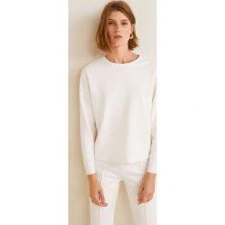 Mango - Bluza Combo. Szare bluzy damskie Mango, z aplikacjami, z bawełny. Za 119.90 zł.