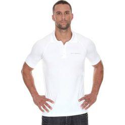 Brubeck Koszulka męska polo Prestige z krótkim rękawem biała r. XL (SS10920). Koszulki sportowe męskie Brubeck, z krótkim rękawem. Za 171.23 zł.