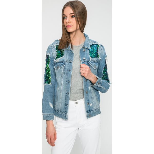 41372dcb85ca3 Damskie Jeans Marki Kurtka Bawełny Kurtki Guess Jeans Z w8q6tw