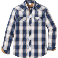 Koszula z długim rękawem Regular Fit bonprix niebieski w kratę. Niebieskie koszule męskie bonprix, z długim rękawem. Za 74.99 zł.