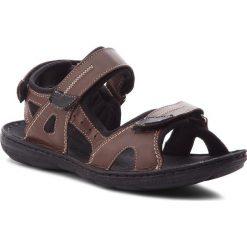 Sandały ŁUKBUT - 991 Brązowy. Brązowe sandały męskie Łukbut, z materiału. W wyprzedaży za 149.00 zł.