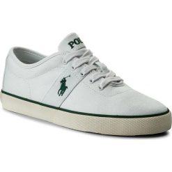 Tenisówki POLO RALPH LAUREN - Halford 816690652002 White. Białe trampki męskie Polo Ralph Lauren, z gumy. W wyprzedaży za 239.00 zł.