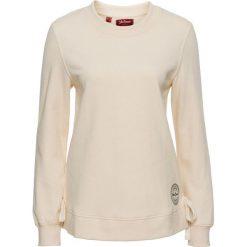 Bluza ze sznurowaniem bonprix beżowo-piaskowy. Brązowe bluzy damskie bonprix. Za 37.99 zł.