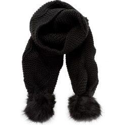 Szal GUESS - Not Coordinated Wool AW6800 WOL03 BLA. Czarne szaliki i chusty damskie Guess, z materiału. Za 229.00 zł.