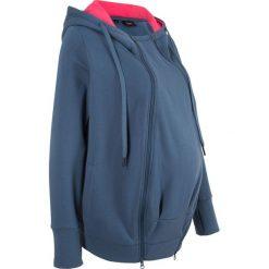 Bluza ciążowa rozpinana, z wstawką niemowlęcą bonprix indygo. Bluzy dla dziewczynek marki Pulp. Za 99.99 zł.