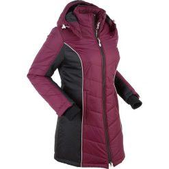 Płaszcz funkcyjny pikowany bonprix jeżynowy. Płaszcze damskie marki FOUGANZA. Za 239.99 zł.