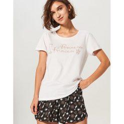 Dwuczęściowa piżama - Kremowy. Piżamy damskie marki bonprix. W wyprzedaży za 39.99 zł.